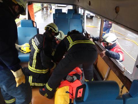 Profesionales de emergencias y bomberos